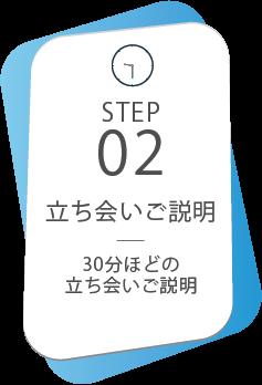 STEP02|立ち会いご説明|30分ほどの立ち会いご説明